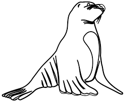 sea lion clipart black and white clipartxtras