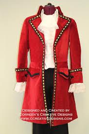 Red Coat Halloween Costume Captain Hook Pirate Costume Custom Mens Correen U0027s Creative