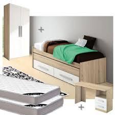 cdiscount chambre complete adulte chambre complete lit gigogne 90x200 chene blanc achat vente
