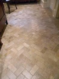 Tiling A Bathroom Floor by Floor Transition Laminate To Herringbone Tile Pattern Model