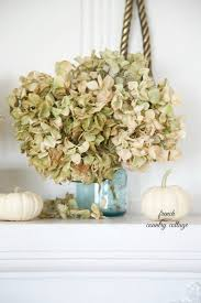 Hydrangea Hill Cottage French Country Decorating Easy Autumn Decorating Blue Jars On The Mantel French Country