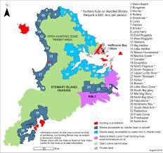 Block Island Map Stewart Island Rakiura Hunting Where To Hunt In The Southland Region