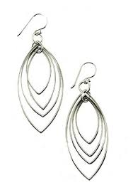 silver teardrop earrings sterling silver hypoallergenic earrings multi teardrop dangle