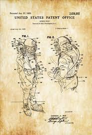 diving suit patent patent print wall decor diver gift scuba