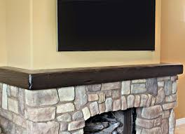 l shaped or wrap around mantels add a custom finished look