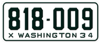 Vanity Plates Washington 1934 Washington State License Plate Embossed With Your Custom