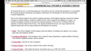 example commercial invoice how to fill in a dhl commercial invoice pdf youtube