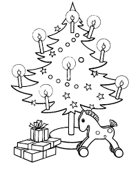 christmas tree candles coloring pages christian coloring