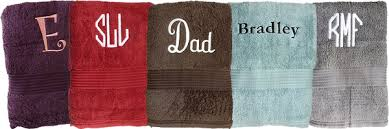 name embroidered towels 13 000 towels