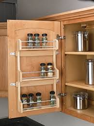 Wood Wall Mount Spice Rack Amazon Com Rev A Shelf 4sr 18 Medium Cabinet Door Mount Wood