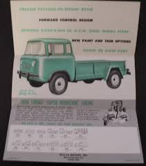 jeep fc 170 jeep fc 170 forward control truck sales brochure willys overland