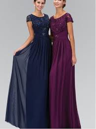 modest bridesmaid dresses navy blue 2017 modest bridesmaid dresses with cap