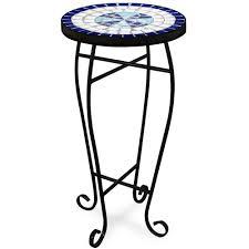 Gueridon Maison Du Monde Table Guéridon 62x34cm Mosaique Bleue Neptune Amazon Fr