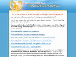 discours mariage mariage