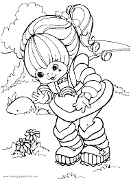 rainbow brite color coloring pages kids cartoon
