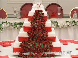 red and white square wedding cake cakecentral com
