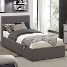Grey Ottoman Bed Buy Berlin Fabric Ottoman Bed Grey From Our Single Beds Range