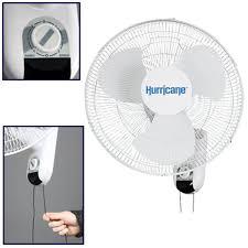 wall mounted rotating fan hurricane 736503 classic wall mount oscillating fan 16 inch