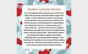 imaginative materials advent calendars onestopenglish