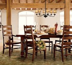 Country Dining Room Decor by White Country Dining Room Sturdy Brown Varnished Teak Wooden
