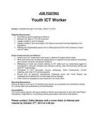 Sample Resume For Social Worker Position by Sample Cover Letter Youth Care Worker