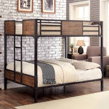Industrial Bunk Beds Furniture Of America Markain Industrial Metal Bunk Bed Free