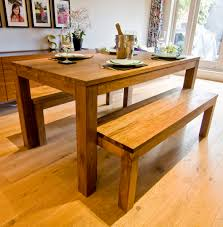 wooden table and bench pin by maja lubczanska on dining tables living room pinterest