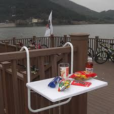 china outdoor folding balcony hanging table with cup holder