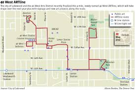 light rail schedule w line 40 west artline gains ground in lakewood the denver post