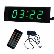 aliexpress buy green led 1 4digits led wall clock digital