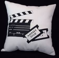 movie theater themed home decor tickets pillow great movie theater home decor home theatre
