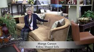 marge carson kidney shaped sofa youtube