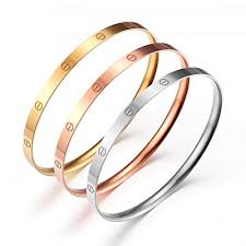 color bangle bracelet images Caperci women 39 s set of 3 tri color screw head bangle bracelets jpg