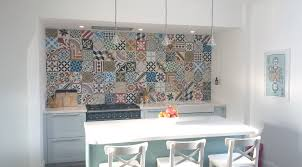 moroccan tile kitchen backsplash designer patchwork tiles for kitchen backsplash in white kitchen