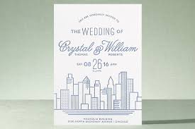 wedding invitations minted cityscape letterpress wedding invitations by steury minted