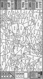 Coloriage magique  Les tables de multiplication  Çarpma dosyası
