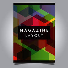 vector abstract magazine layout template designs template free