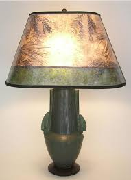 Urn Table Lamp Arts U0026 Crafts Lighting Lonesomeville Pottery Pinecone Urn Table