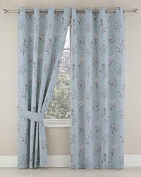Duck Egg Blue Blackout Curtains Tiffany Blackout Lined Eyelet Curtains J D Williams