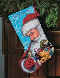 christmas needlepoint santa and toys needlepoint christmas kit