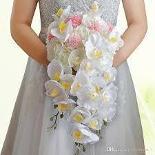 cascading bouquet 2017 white artificial bridal cascading bouquet flowers