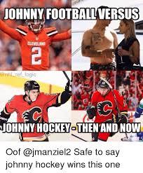 Johnny Football Meme - johnny football versus levela ref logic johnnyhockeyothen and now