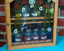 Wooden Wall Mount Spice Rack Wooden Spice Rack Etsy