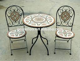Tile Bistro Table Mosaic Bistro Table Mosaic Bistro Table Cm With 2 Chairs Black