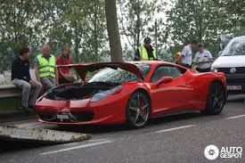 gold ferrari 458 italia 458 italia involved at crash