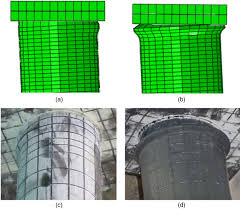 finite element simulation of concrete filled double skin tube
