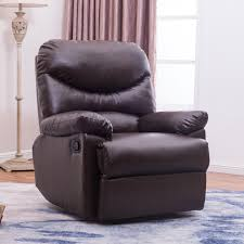 Living Room Recliner Chairs by Brown Coffee Leather Upholstered Recliner Chair Home Living Room