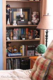 decorating bookcases for teen boys our southern home
