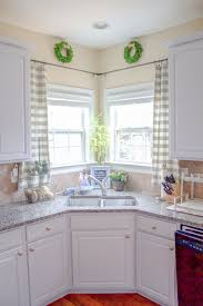 ideas for kitchen window treatments kitchen window treatments corner window curtains window