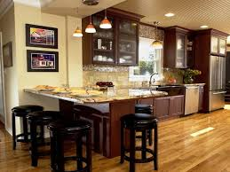 Island Ideas For Kitchens Top Kitchen Island Decorating Idea With Breakfast Bar 9008